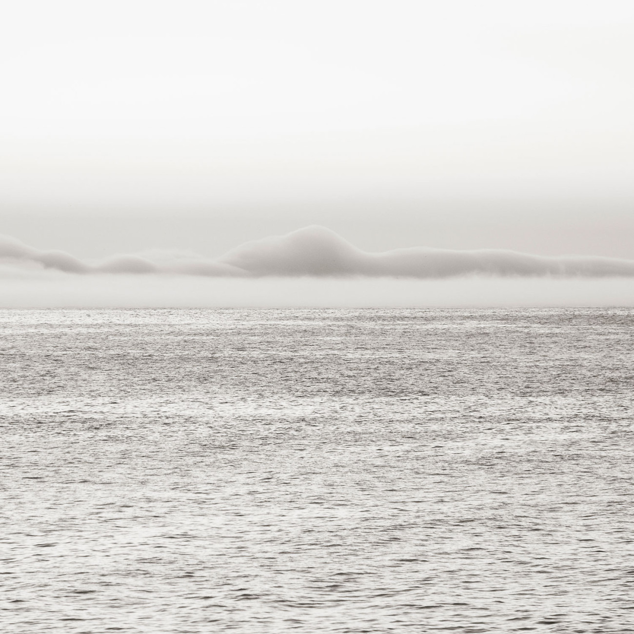 Lifting morning fog, Mediterranean Sea, Spain, 2014