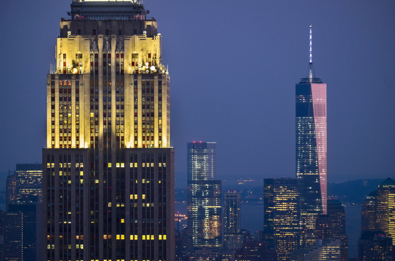 World Trade Center and Empire State Buiilding, NY, 2014