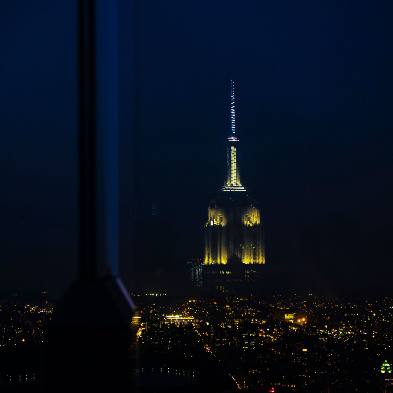 Empire State Building over the city, NY, 2014