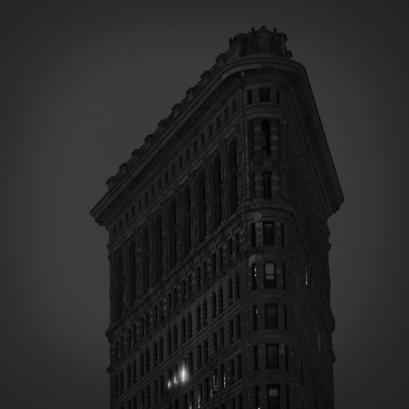 Working late, the Flatiron Building, NY, 2015