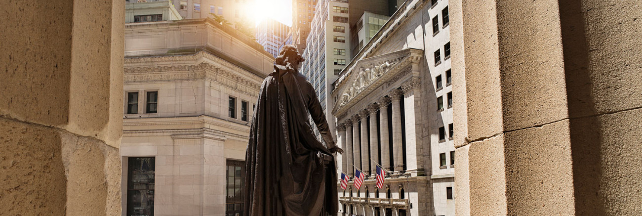 Wall Street from Federal Hall ,NY, 2015
