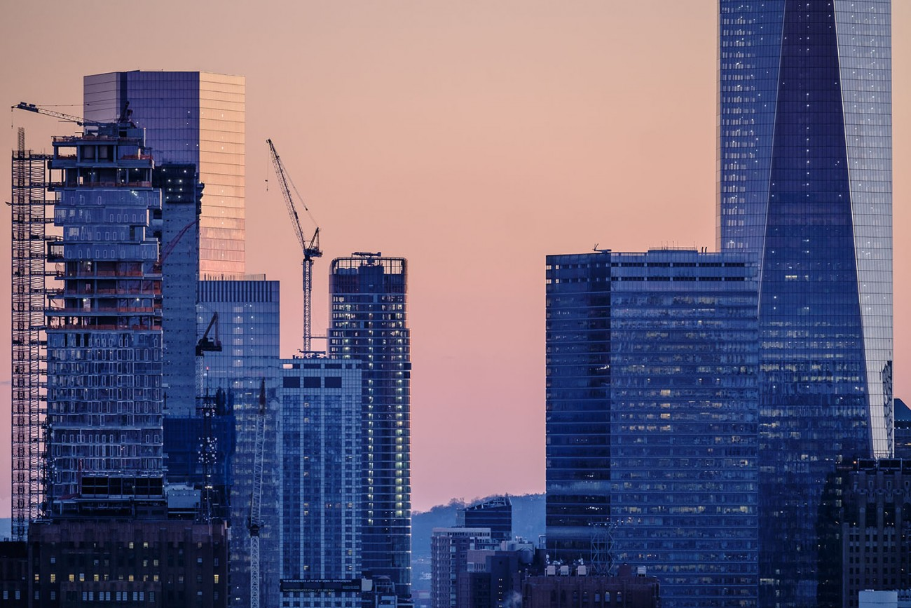 Building Construction and Trade Center tower, NY, 2016