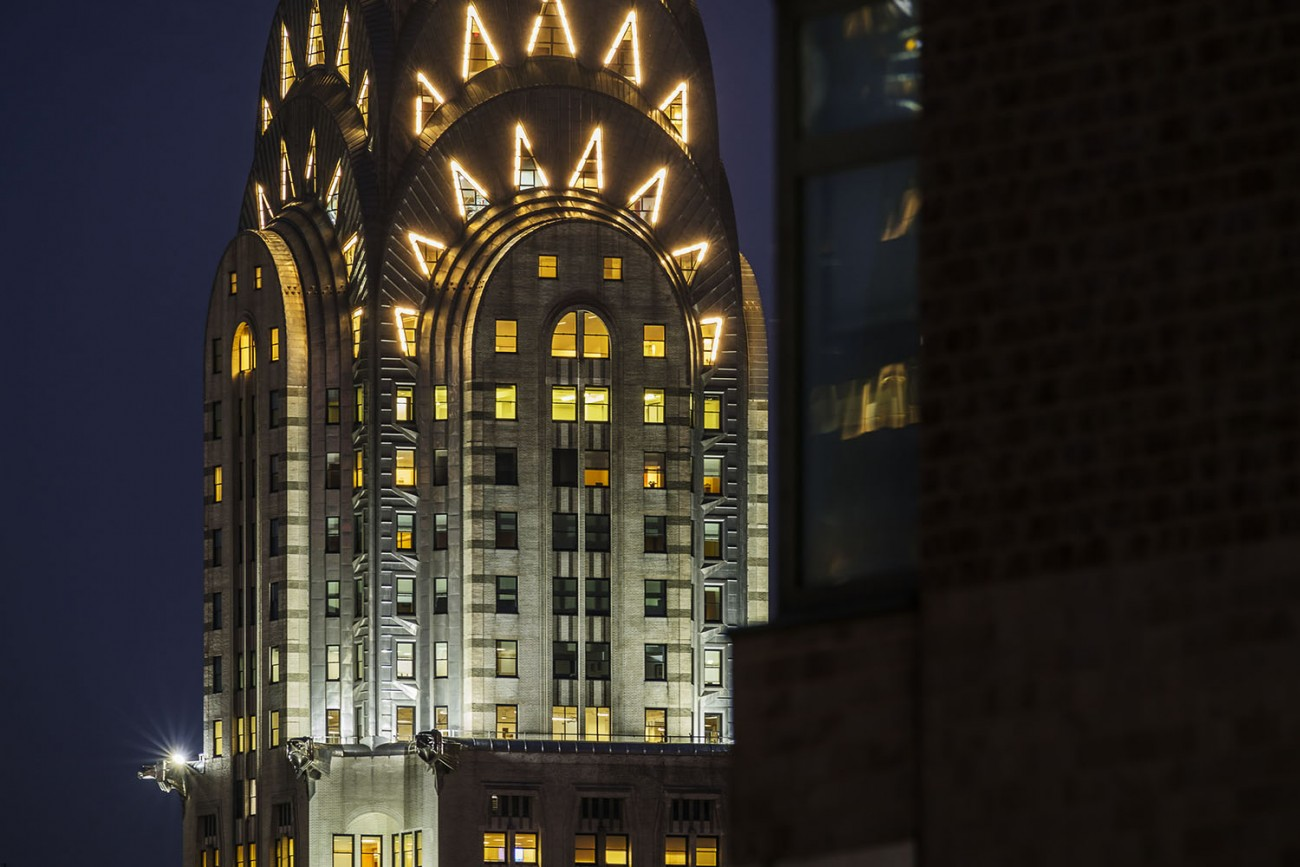 Chrysler Building at night, NY, 2016