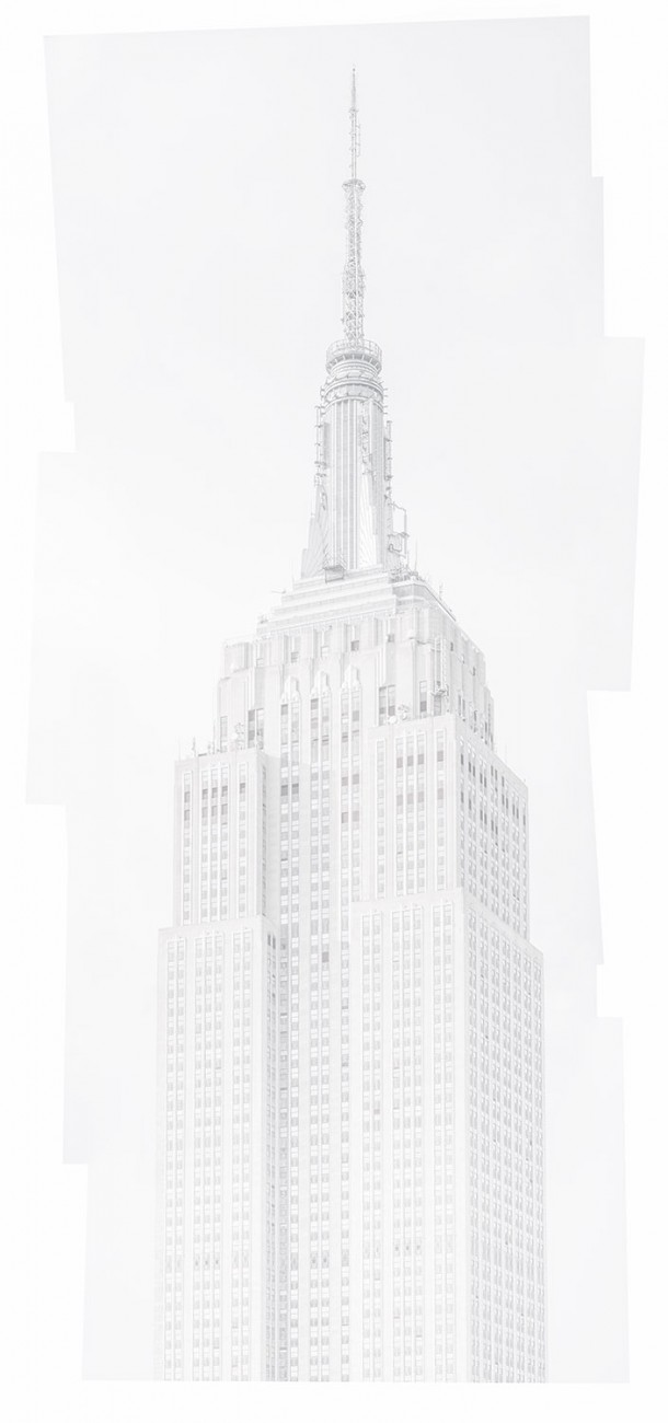Empire State Building study in white, 2016