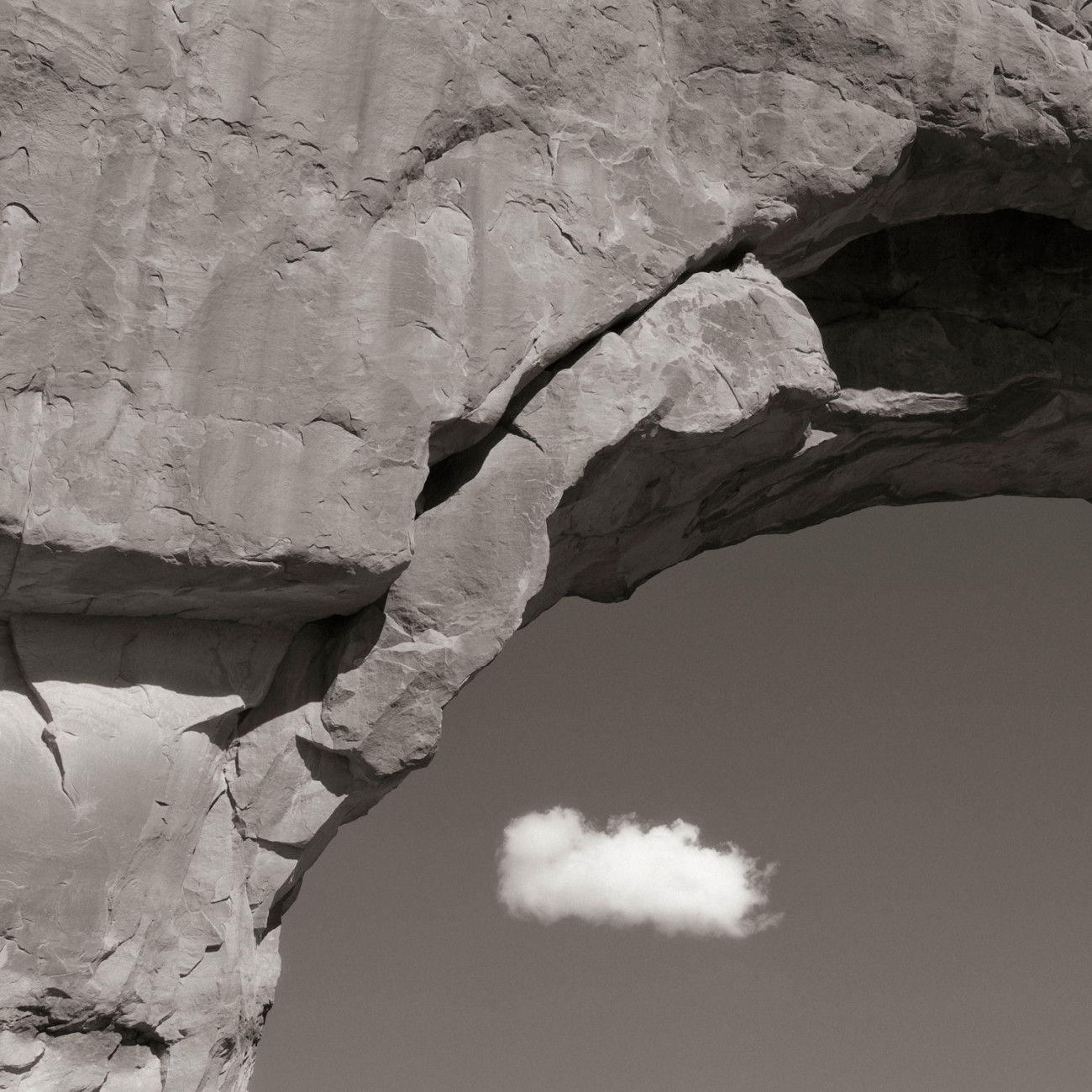Arch and cloud, Utah, 2008