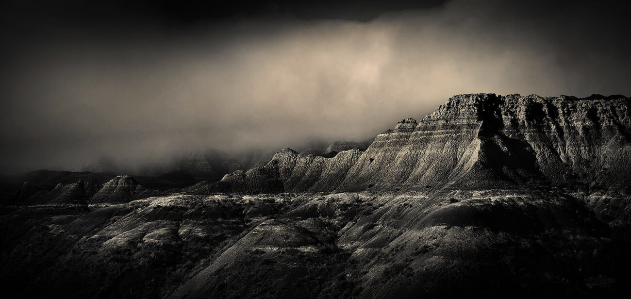 Clearing storm, Badlands
