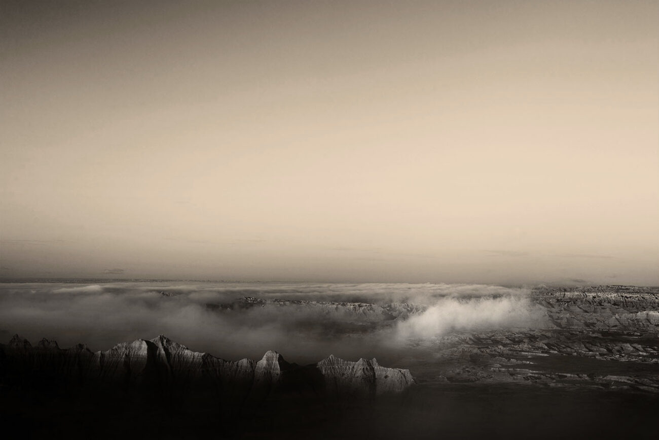 Badlands and lifting fog, 2010