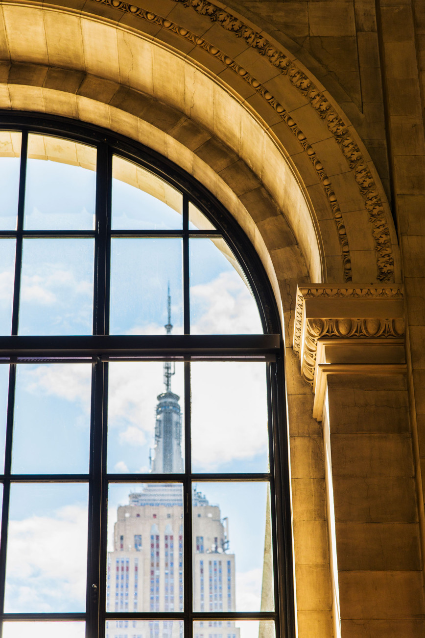 Empire State Building and New York Library, NY, 2013