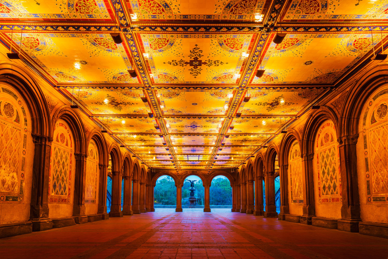 The arcade near Bethesda Fountain, NY, 2013