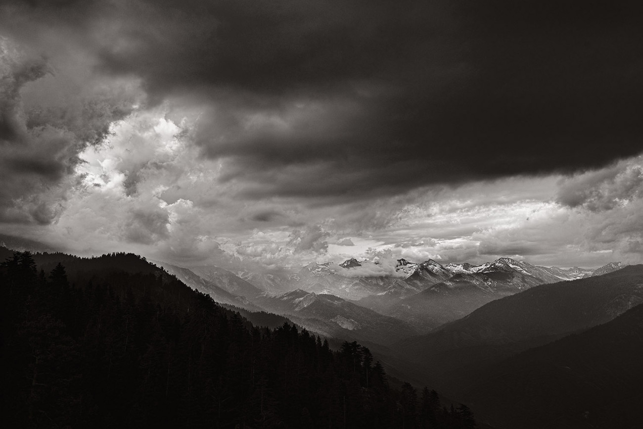 Storm clouds over the Sierra Nevada Mountains, CA, 2009