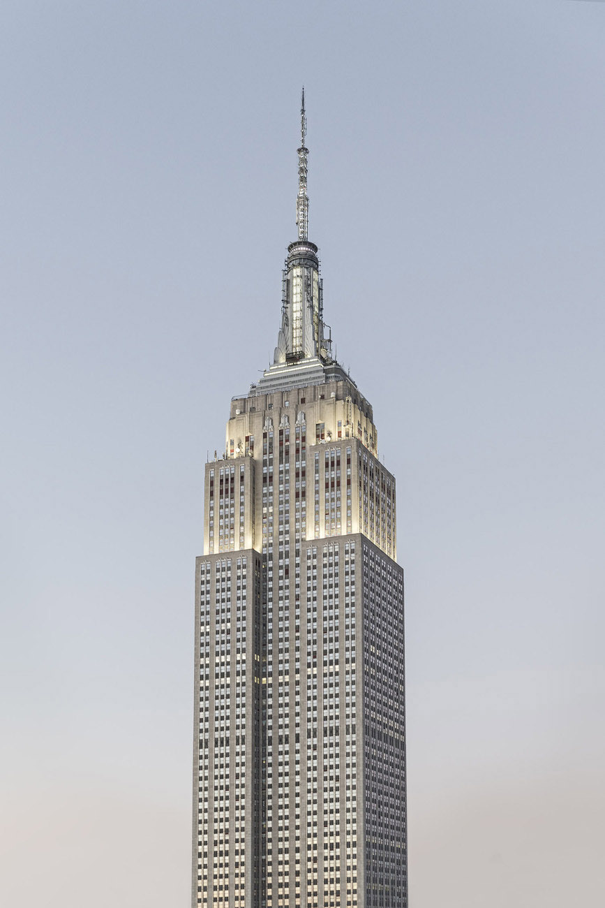 Empire State Building in a silver light, NY, 2015