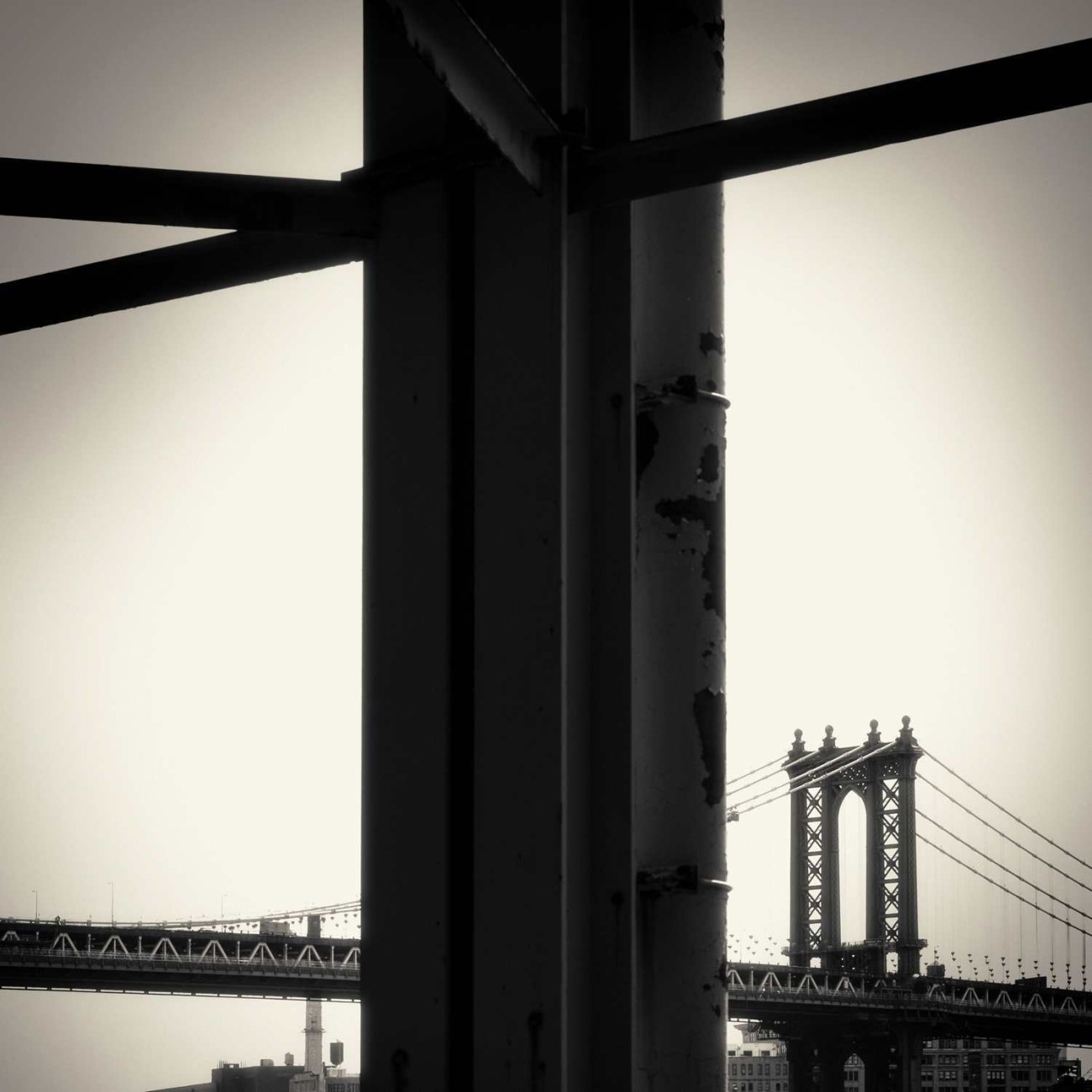 Manhattan Bridge and girders, New York, 2013