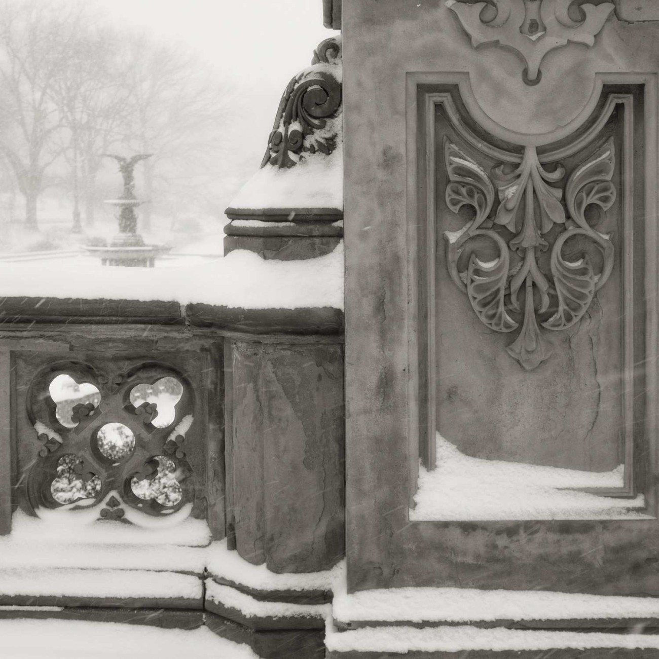 Bethesda Fountain in snow, Central Park, New York, 2014