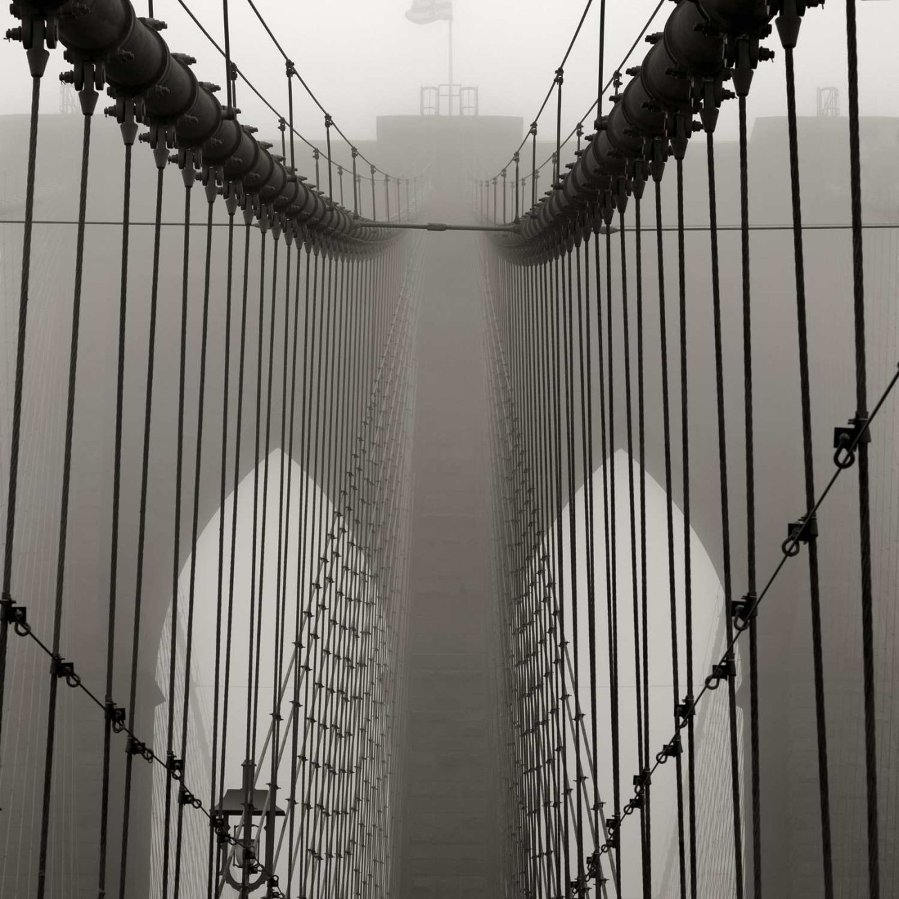 Brooklyn Bridge in fog, study 4, NY, 2014