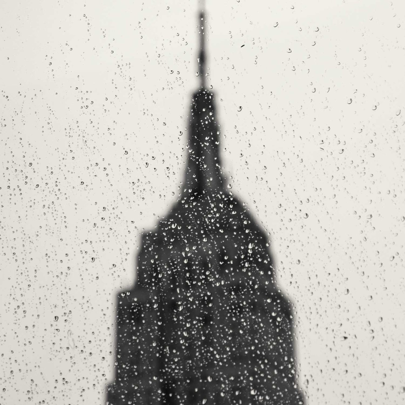 Rain in the city, New York, 2014