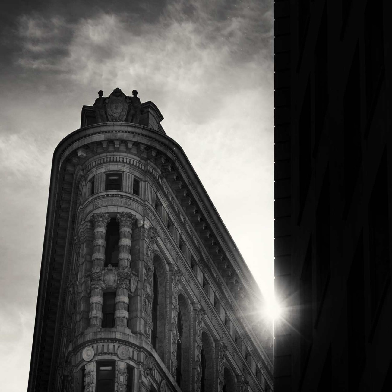 Flatiron Building with sun burst, New York, 2015