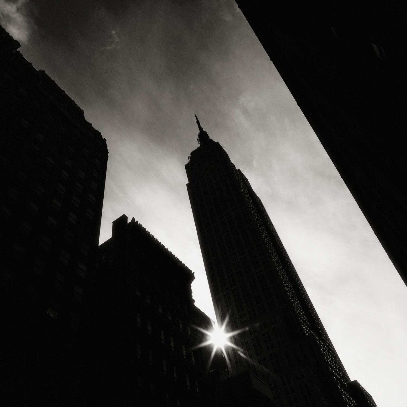 Empire State Building and sun flare, New York, 2011
