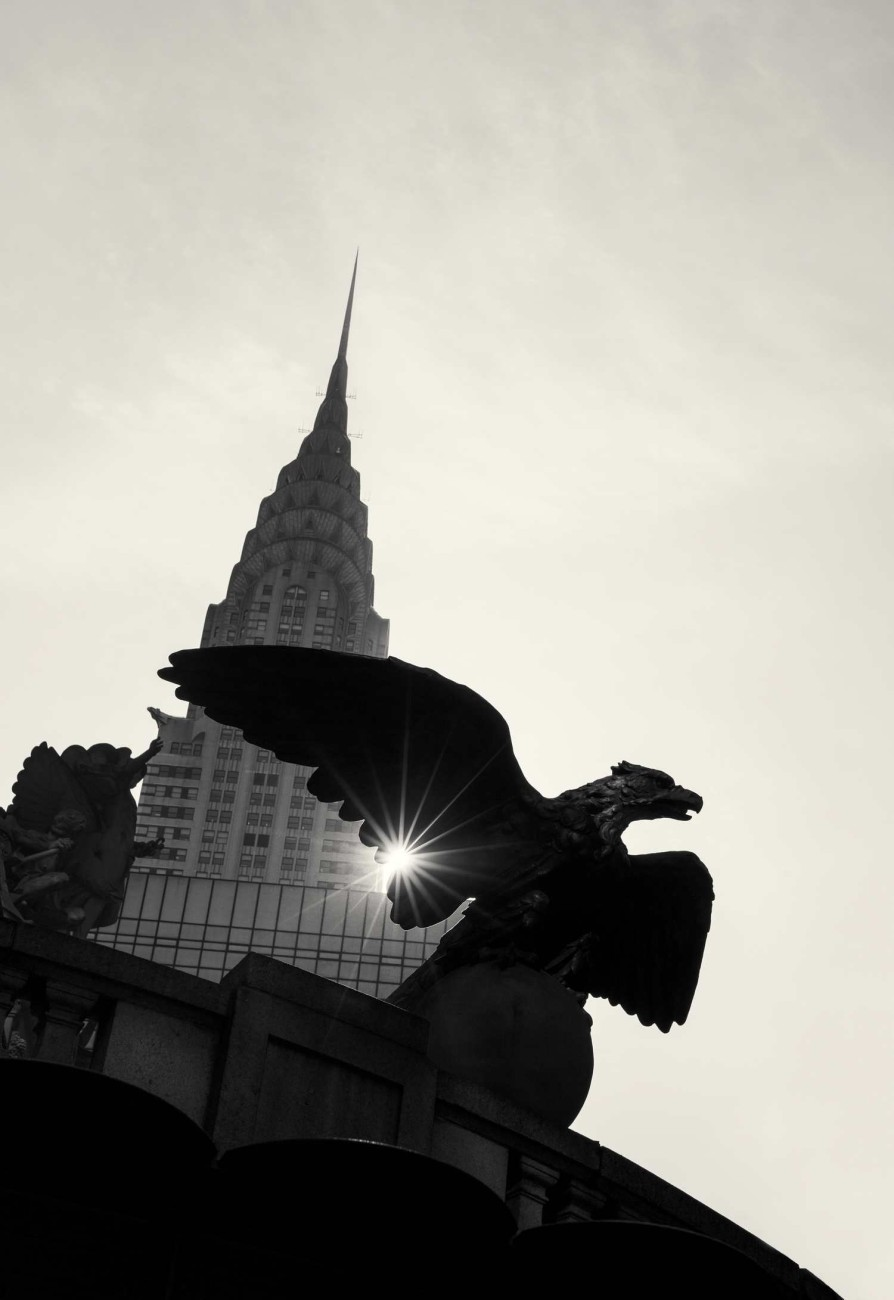 Chrysler Building and eagle with sunburst, New York, 2013