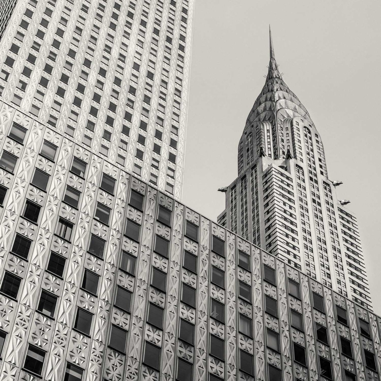 Mobil and Chrysler Buildings, NY, 2013