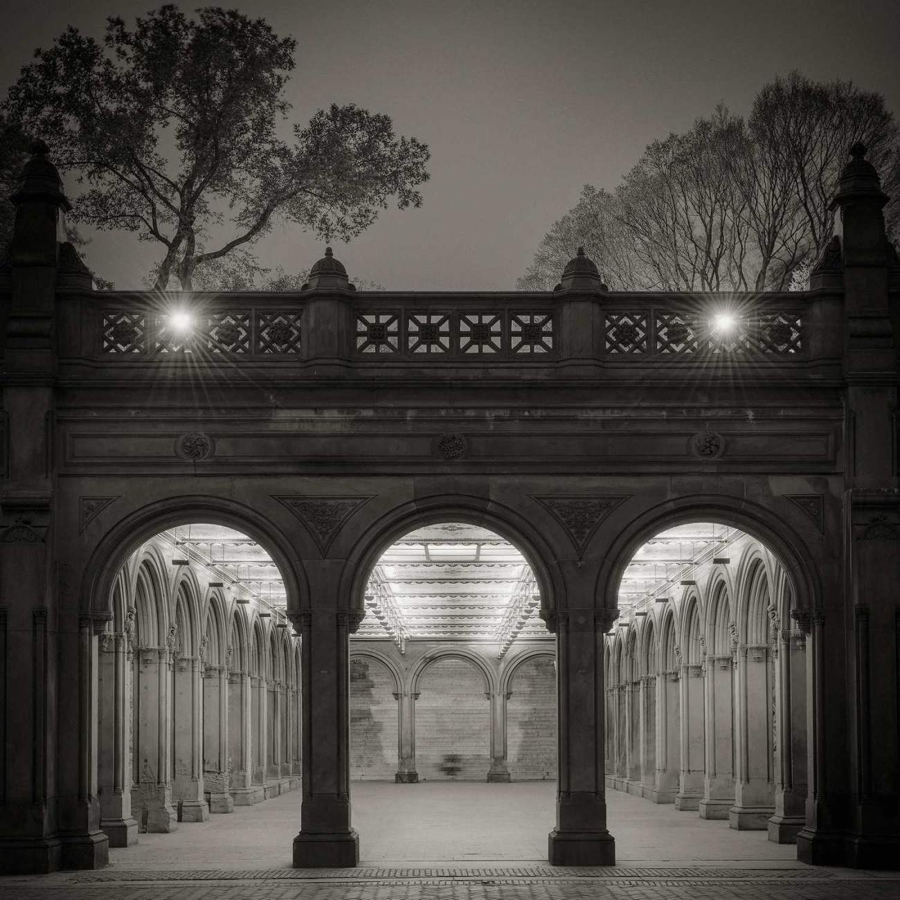 Bethesda Fountain arcade, Central Park, New York, 2013