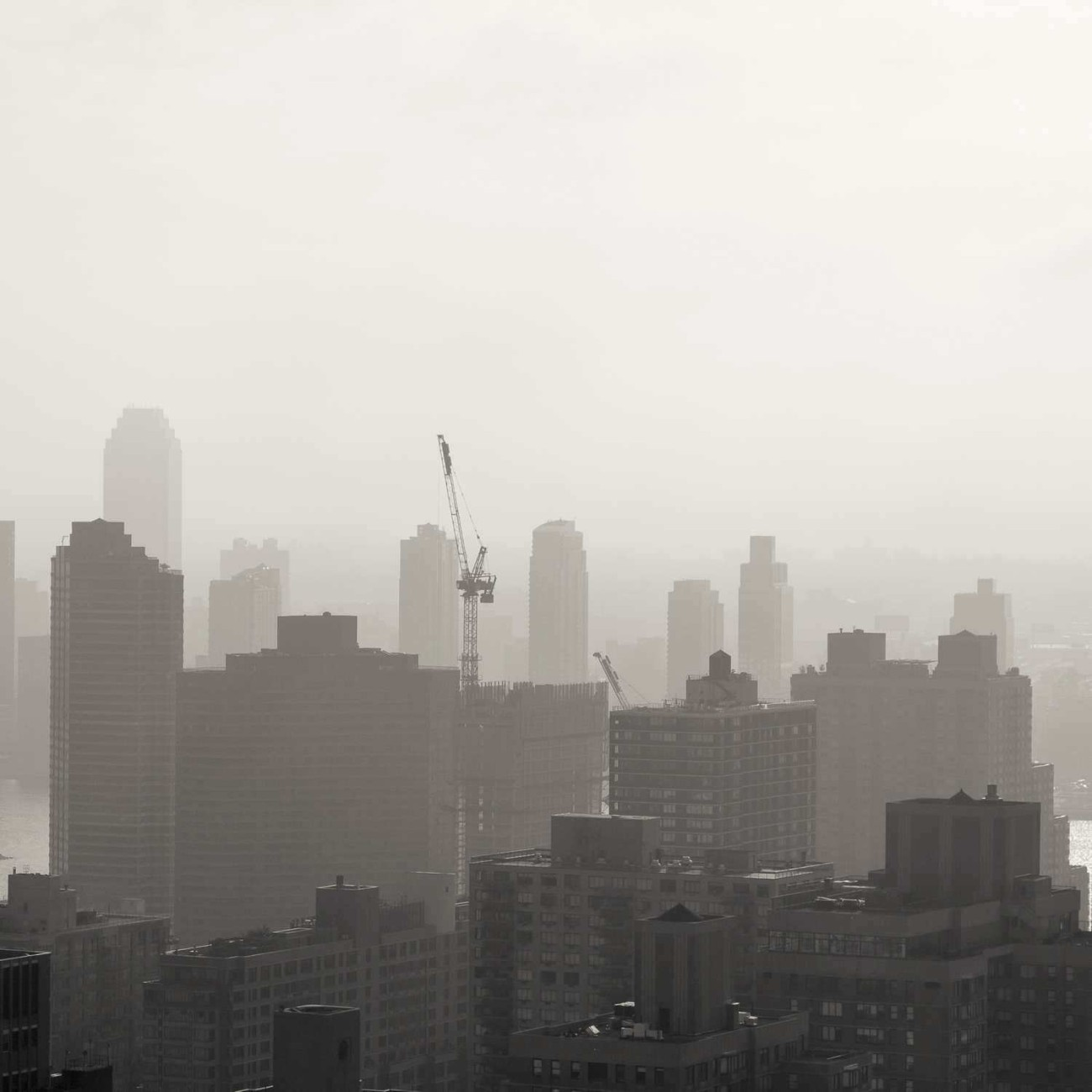 Morning haze along the East River, NY, 2015