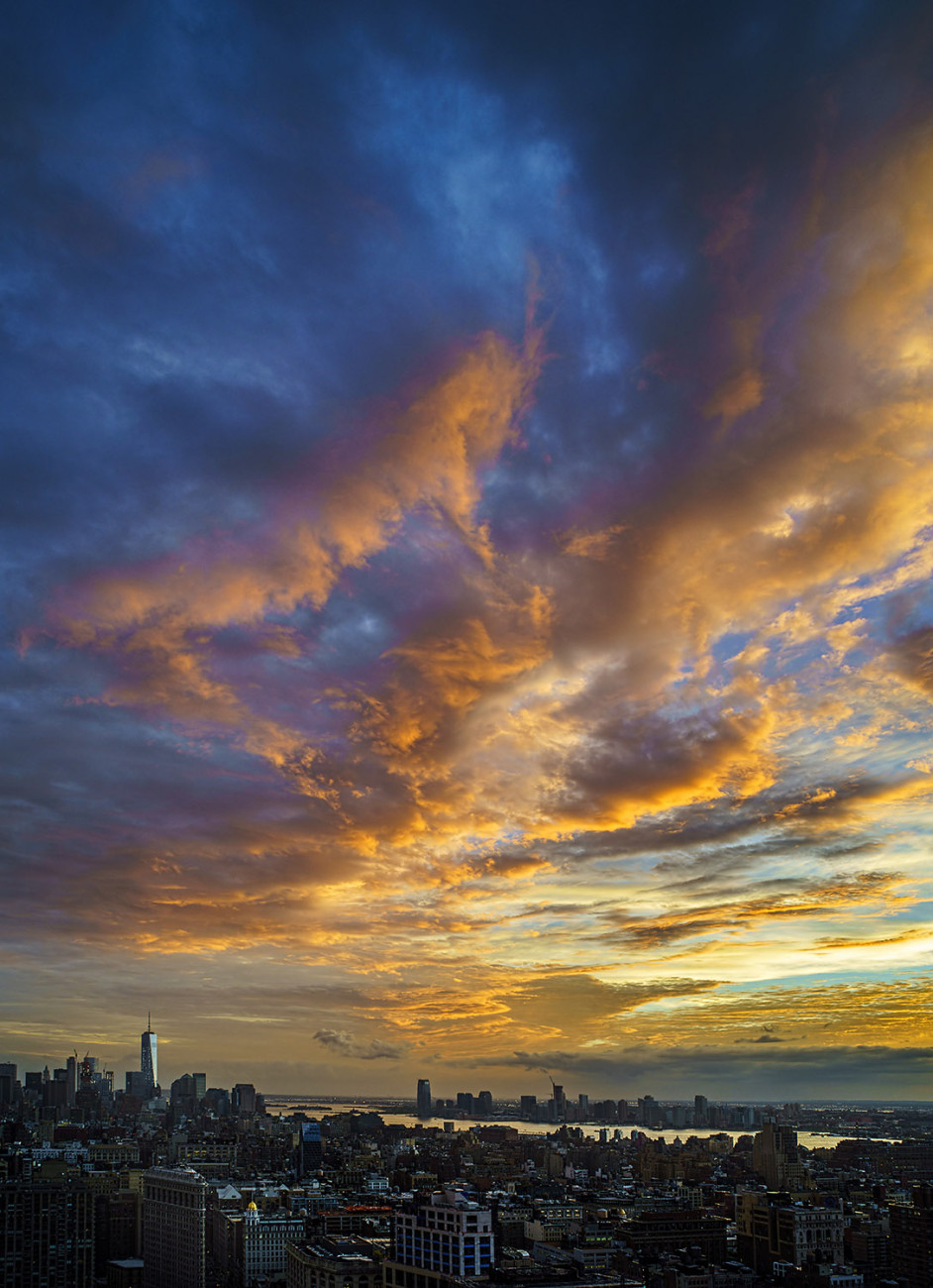 Turner sunset over lower Manhattan (study 2), NY, 2015