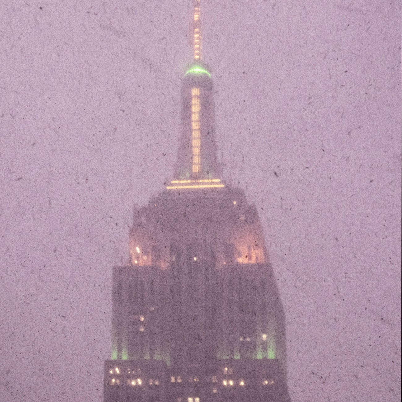 Snowy night, Empire State tower, NY, 2015
