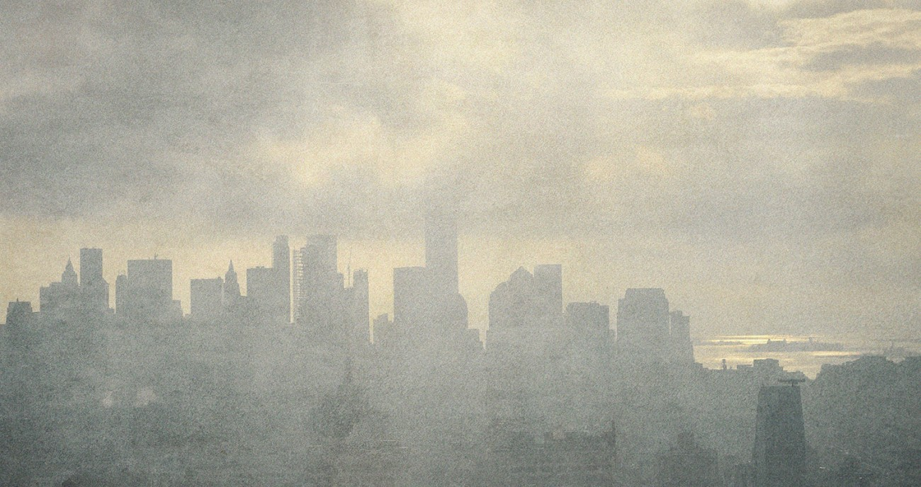 Lower Manhattan and lifting fog, study 2, NY, 2015