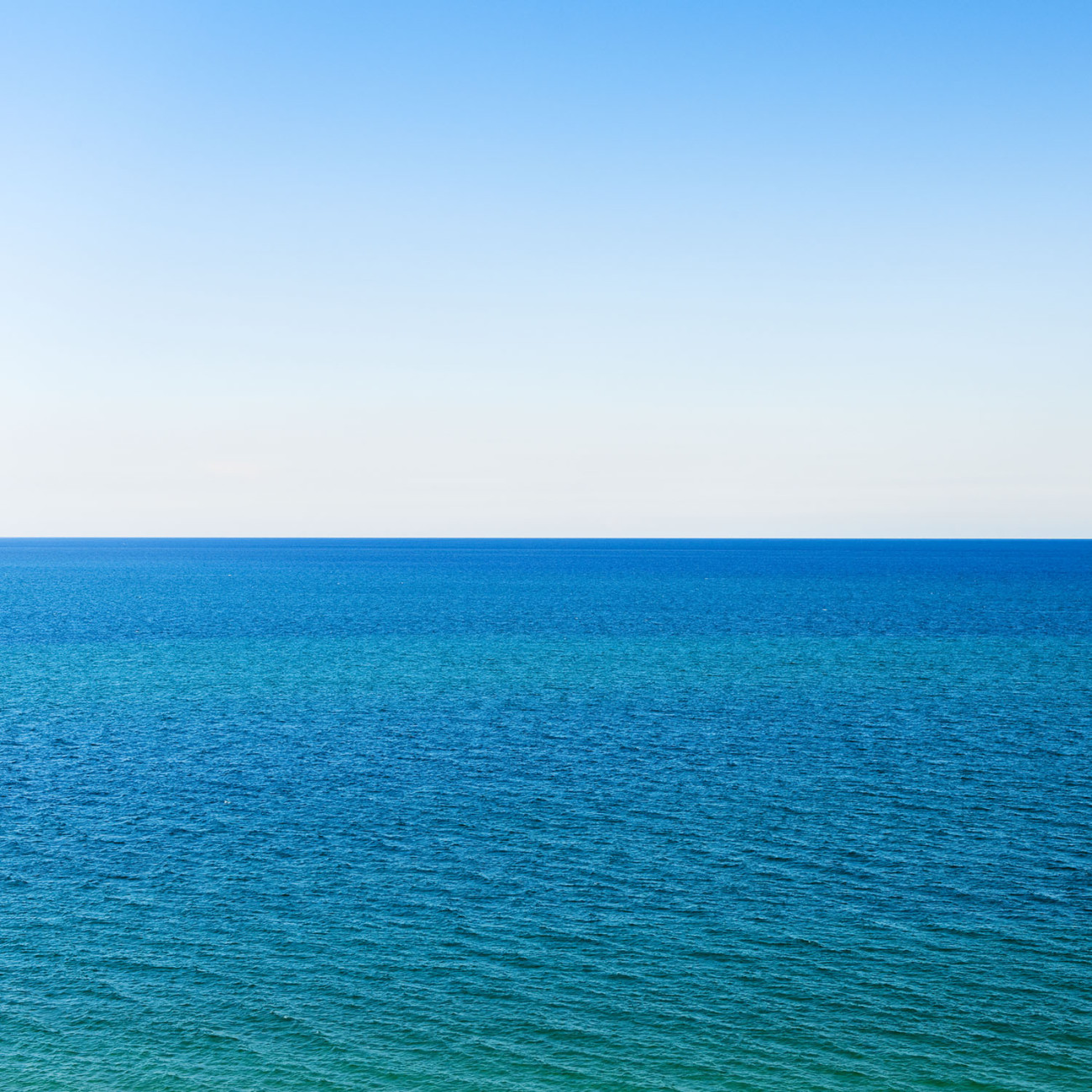 Clear sky and Atlantic Ocean, Florida, 2009