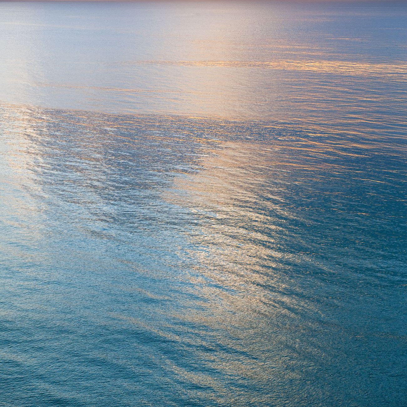 Morning reflections in calm seas, Miami, 2009