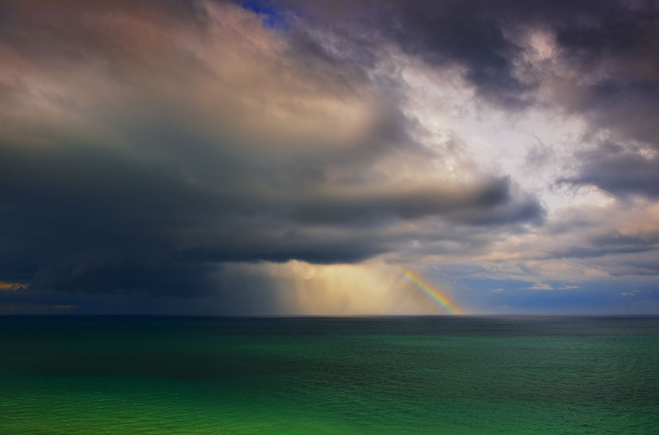 Atlantic Ocean rainbow, Miami, 2009
