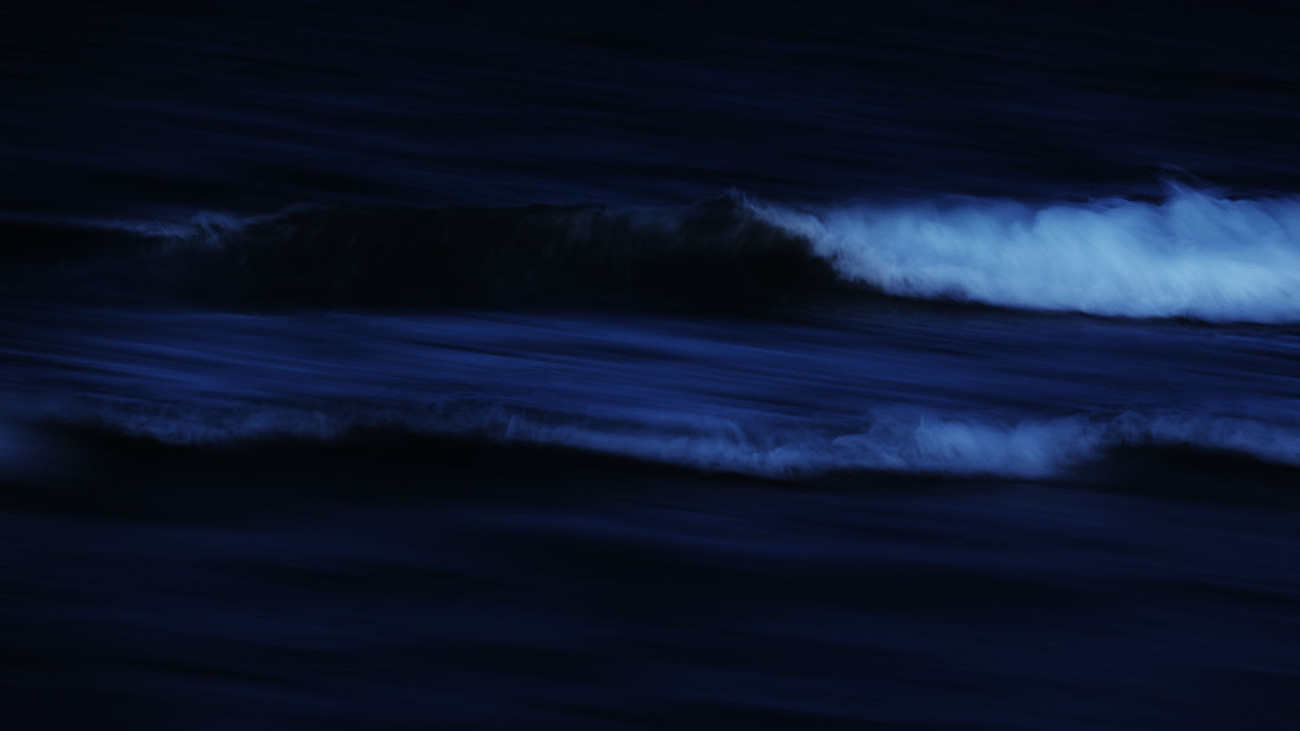 The Sea at Night, study II, Delray Beach, 2017