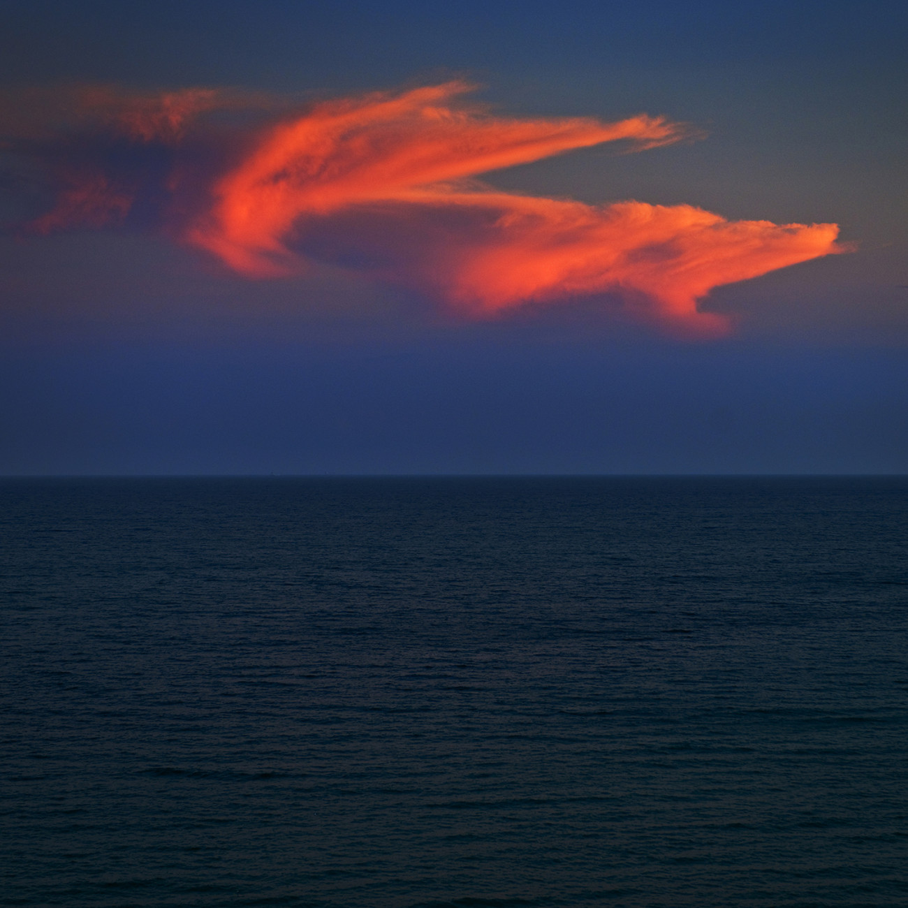 Red cloud, Atlantic Ocean, 2009