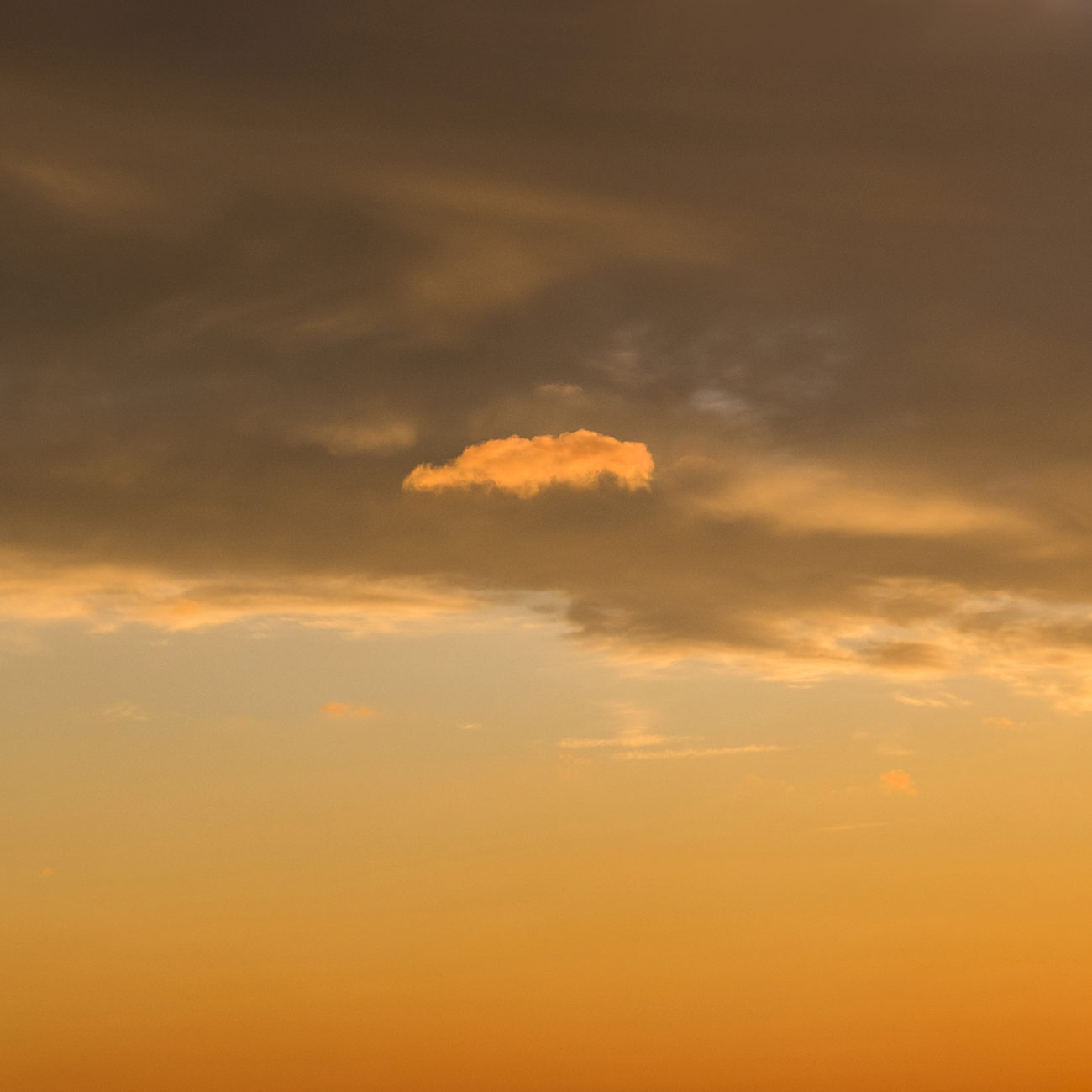 Lone cloud at sunrise, 2015