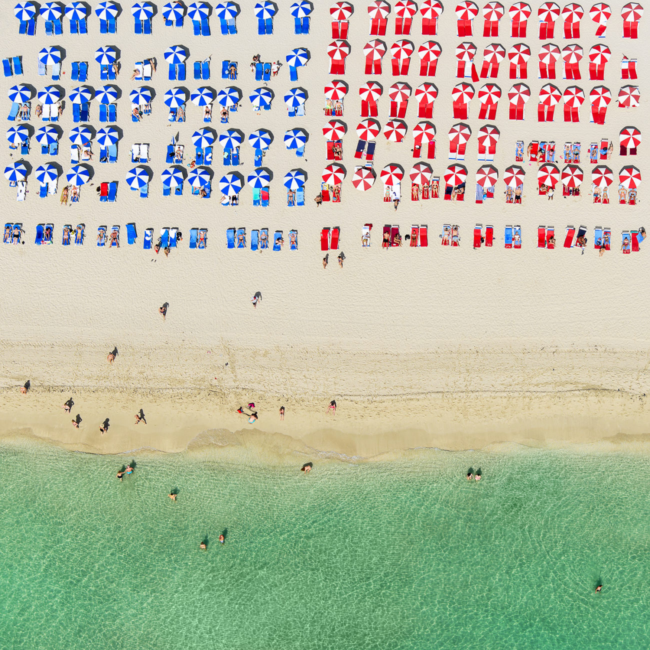 Red white and Blue on Miami Beach, 2017