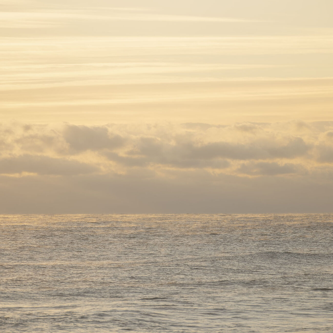 Ocean with morning clouds