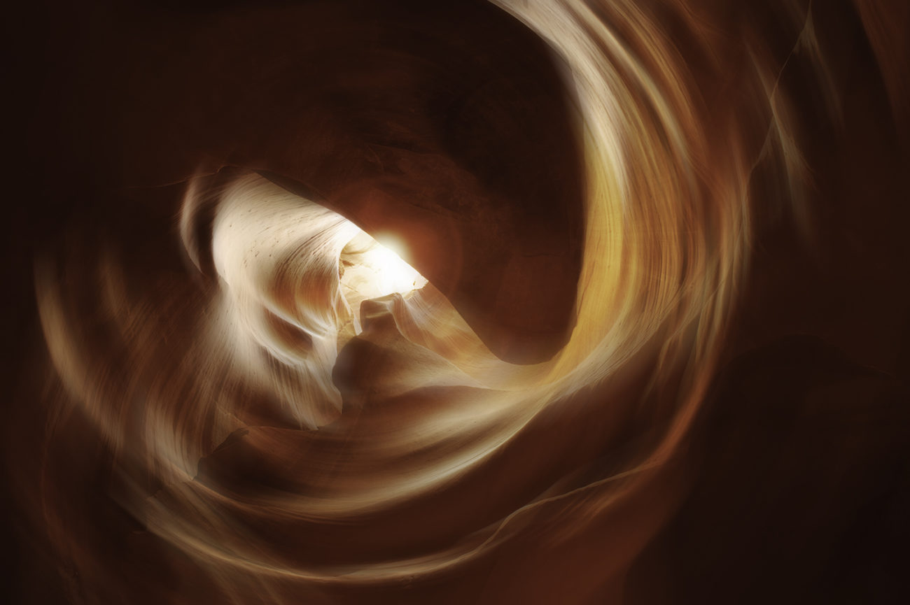 Noonday sun, Antelope Canyon, AZ, 2008