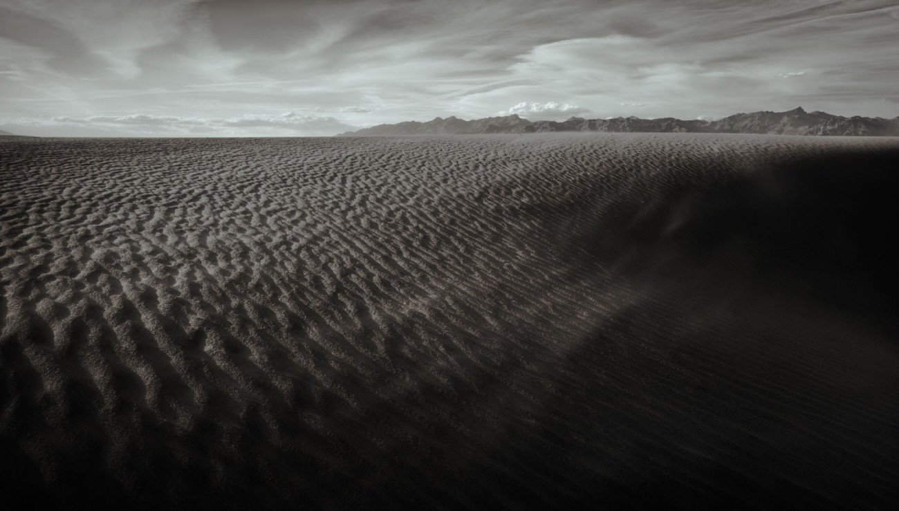 Blowing sand, Death Valley, California, 2009