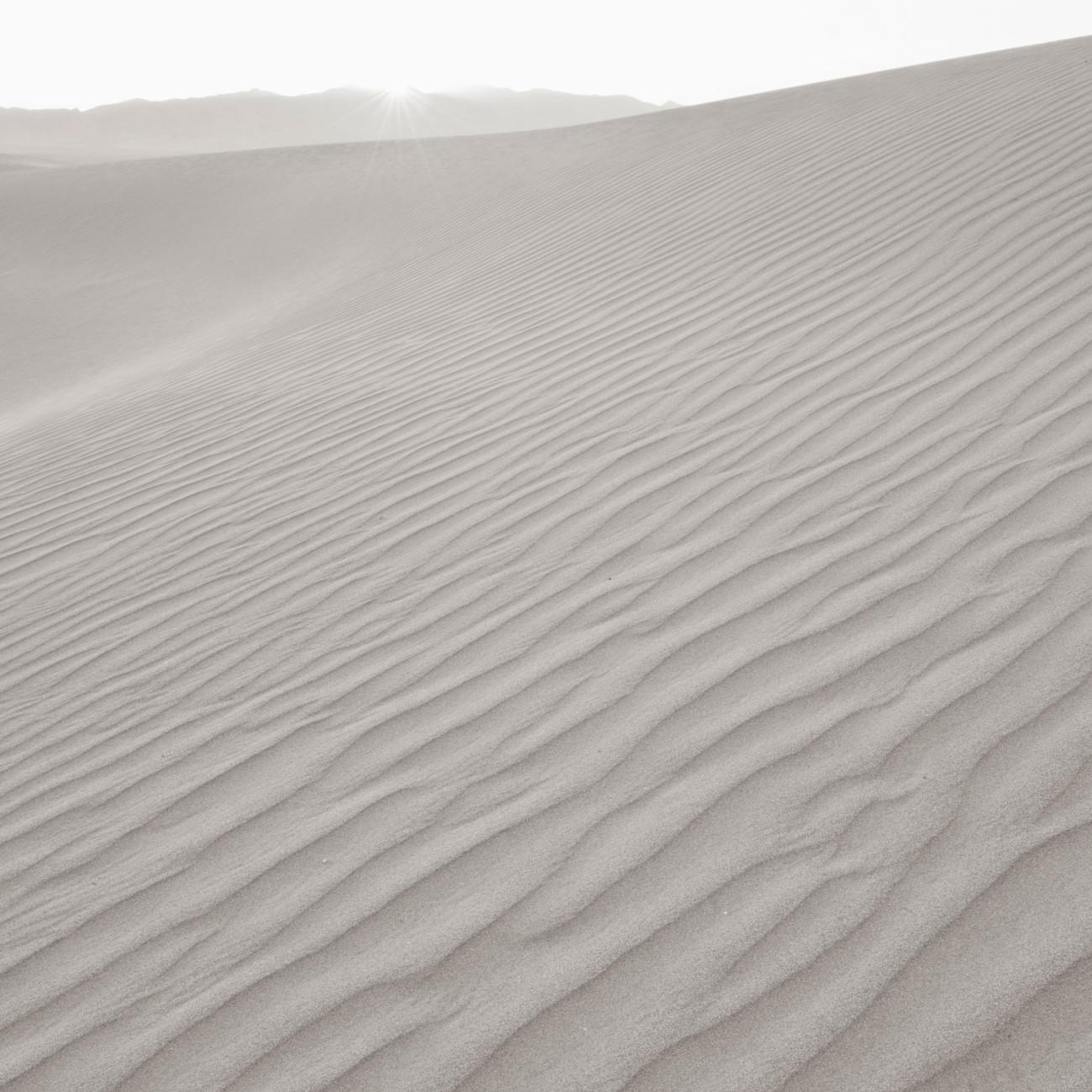 Setting sun, Death Valley, 2009