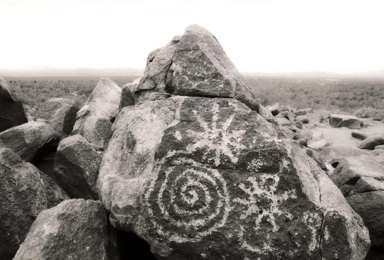 Petroglyphs, Sagauro National Park, Arizona,1990