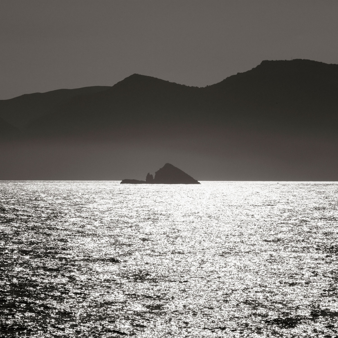 Triangle rock and Mediterranean coast of Spain, 2014