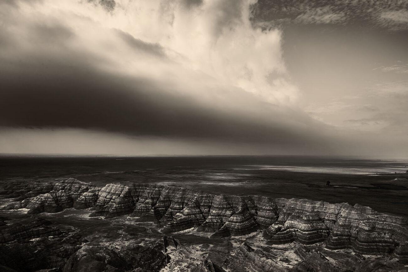 Storm line, Badlands, 2010