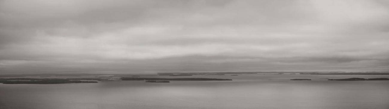 Overcast in Camden harbor, Maine, 2014