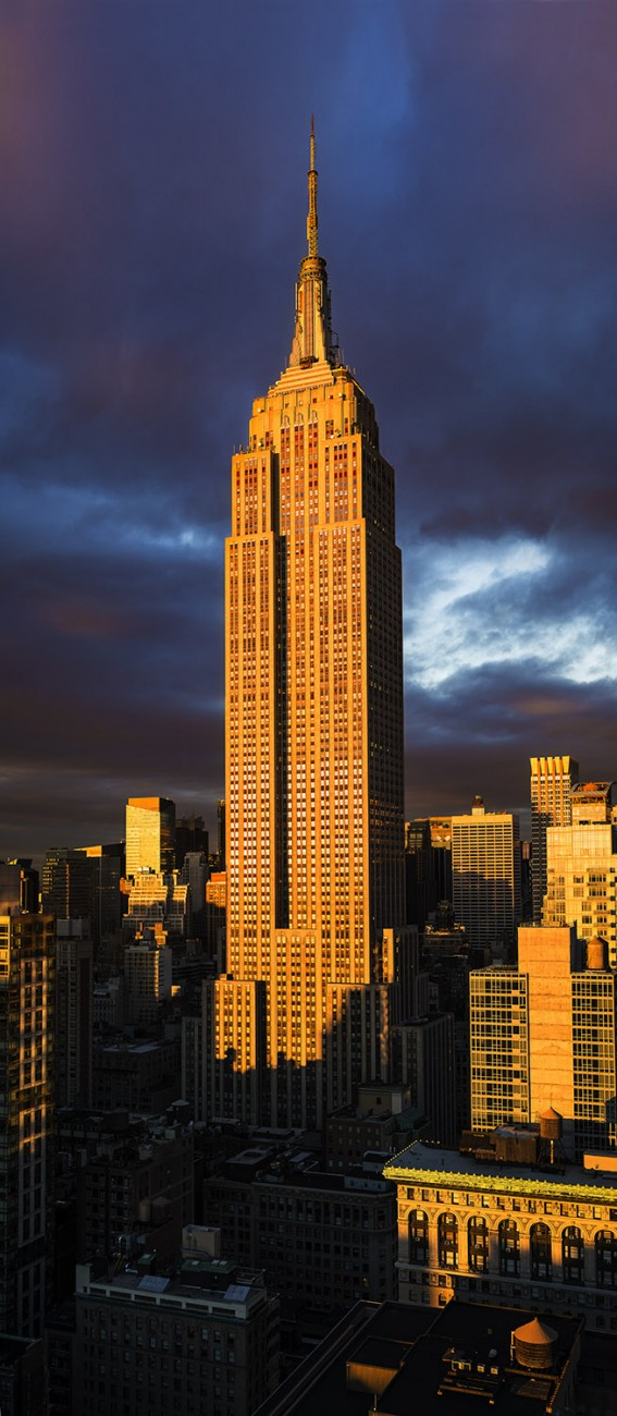 Sunset reflection, Empire State Building, NY 2015