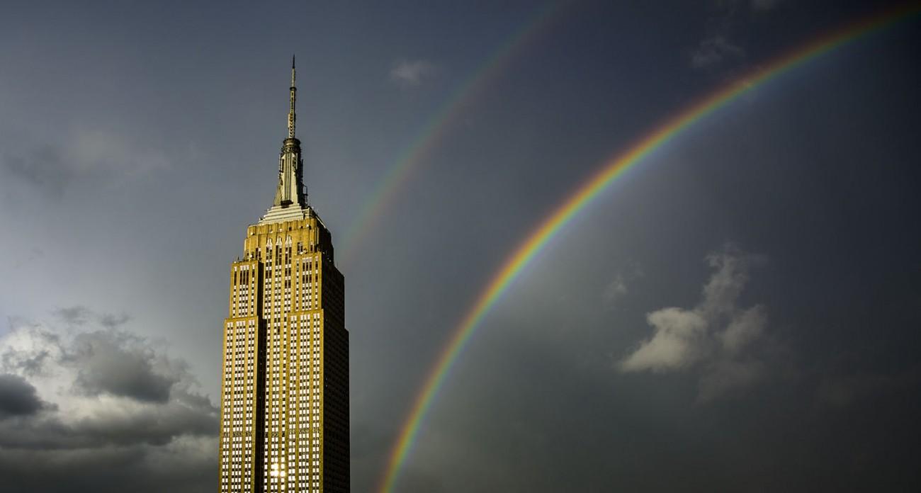 Double rainbow, New York, 2016