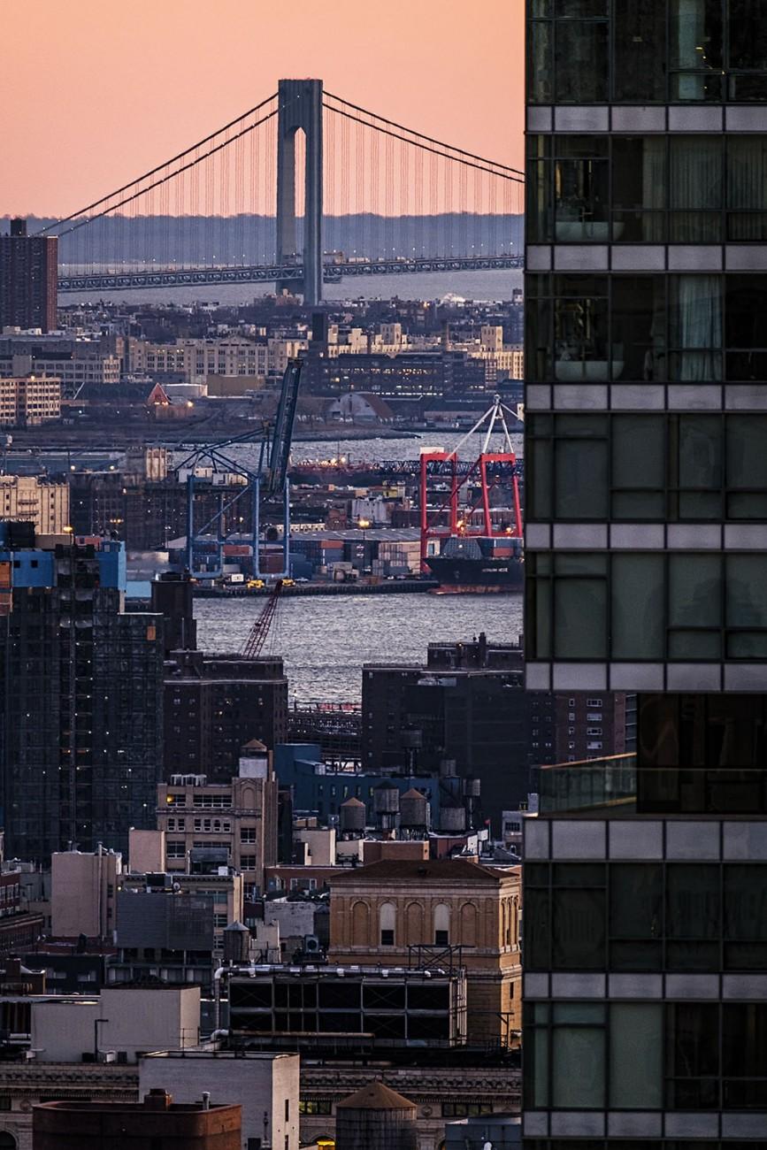 Verazanno and East River docks, NY, 2016