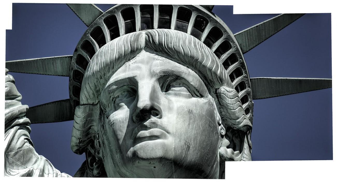 Face of Lady Liberty, NY, 2016