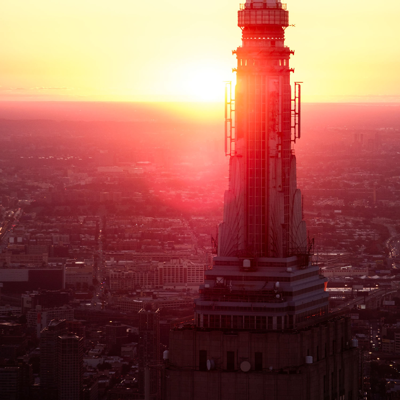 Tower Empire State Building at dawn, NY, 2016