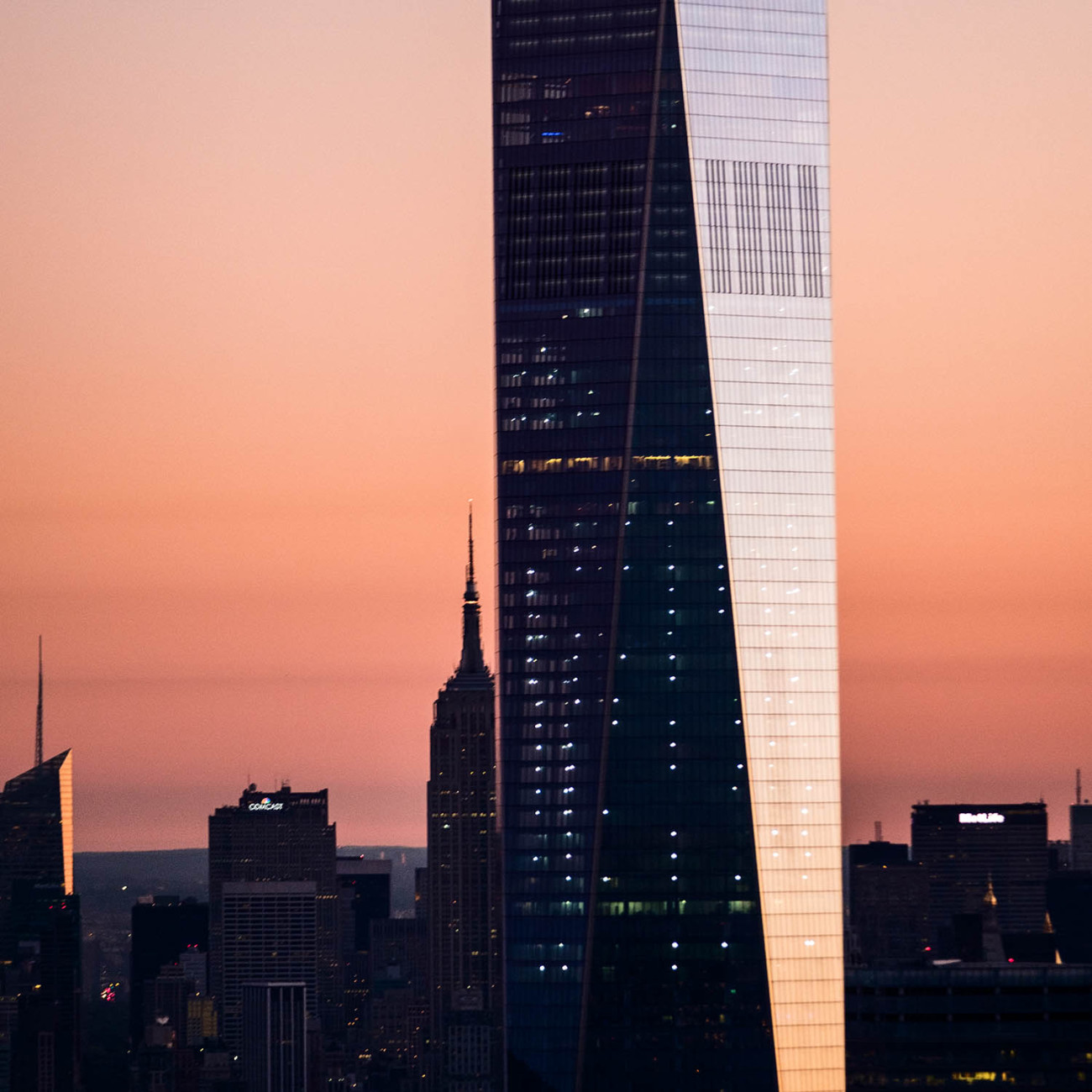 World Trade Center with Empire State Building, NY, 2016