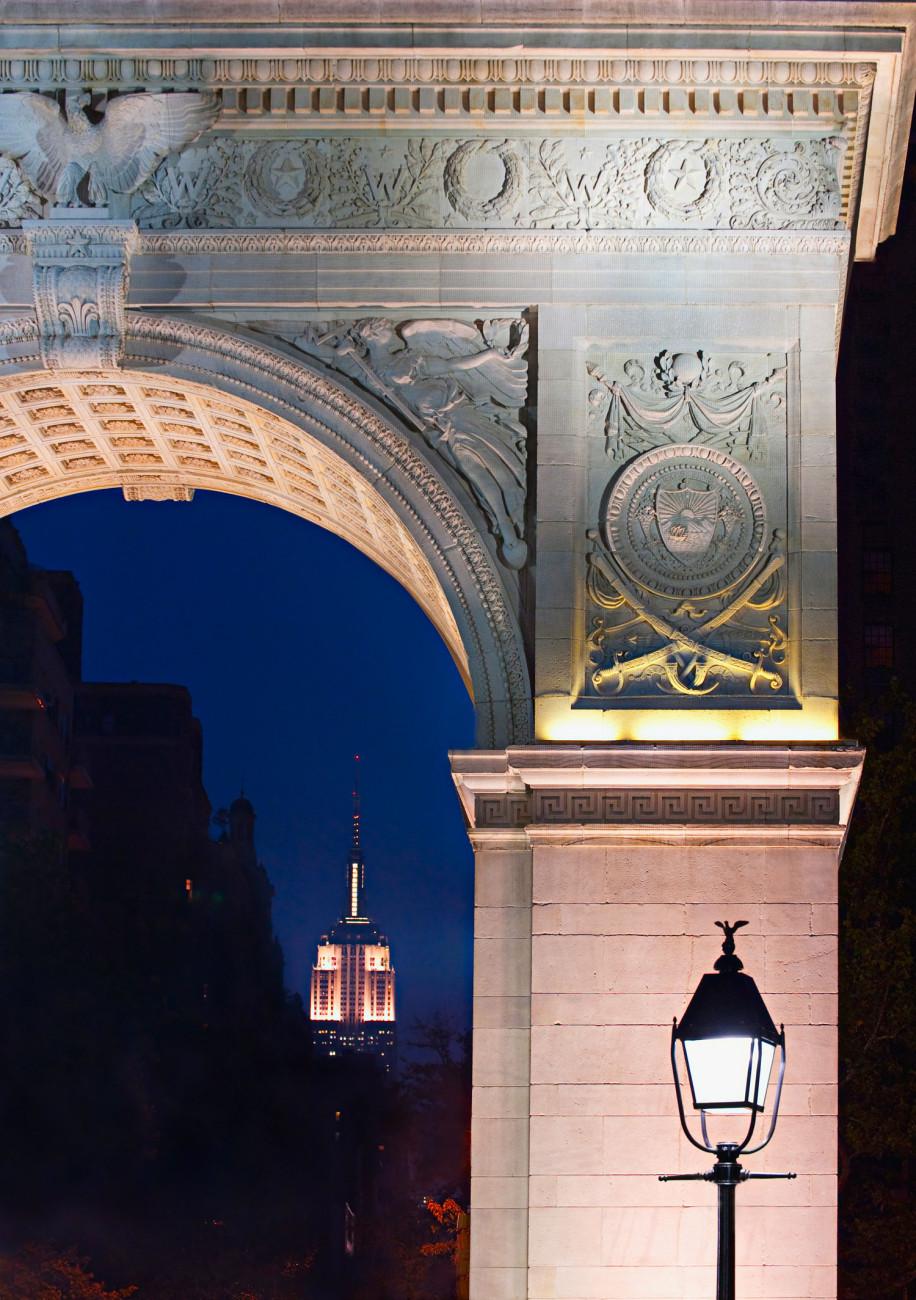 Empire State Building and Washington Square, NY, 2009